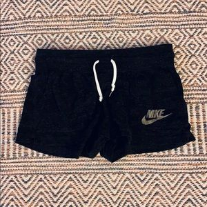 Nike black speckled shorts - small